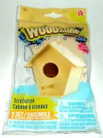 Woodshop BIRD HOUSE Easy To Assemble Includes 10 Pre-Cut Pieces & Wood Glue NIP
