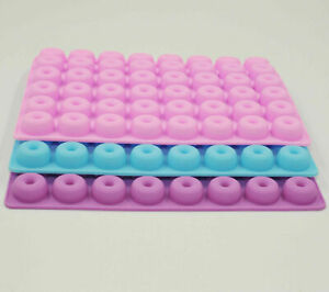 Mini Donut Silicone Mould 48 Cavities Nonstick for Sweets Candy Chocolate Gummy