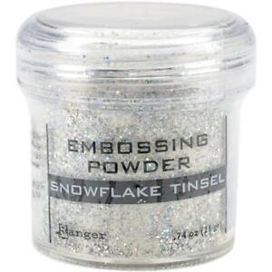 Ranger Embossing Powder 1oz Jar-Snowflake Tinsel