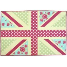 Children's Childs Kids Girls Pink Union Jack Bedroom Play Rug Mat 60cm X 90cm