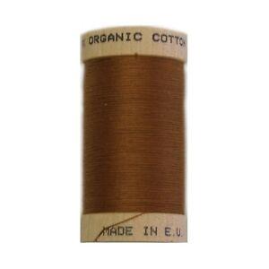 Scanfil Organic Thread 100 Metre Spool - Light Brown - 4827 -100% Organic Cotton