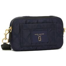 Mark Jacobs Knot Crossbody/Shoulder bag M0012100415 Navy Quilted Black Strap NWT