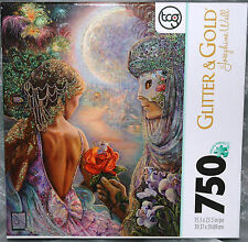 MASQUE of LOVE Josephine Wall 750 Pc. PUZZLE Glitter & Gold NEW Fantasy Magical