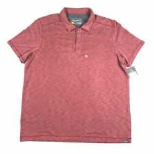 Eddie Bauer Men's Red Active Fit Short Sleeve Polo Shirt Size X-Large XL New