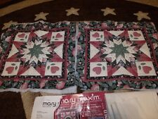 Mary Maxim COUNTRY HERITAGE Quilt Pillows Kit - MOSTLY DONE!  2 Pillows!