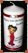50th Birthday candle for her Betty Boop Fan gift  #2