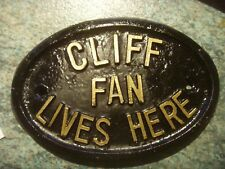 aeba0236f6ff CLIFF FAN LIVES HERE HOUSE PLAQUE SIGN SIR CLIFF RICHARD   THE SHADOWS