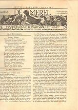 JAARGANG DE MEREL/ZUIGELING EN KLEUTER 1934 - Mien Labberton (redactie)
