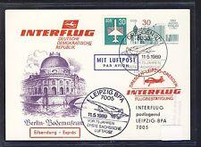 57351) DDR zudruck Ga P 97 Interflug dirección Leipzig fina!