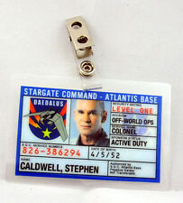 Stargate Command Atlantis Id Badge-Colonel Caldwell