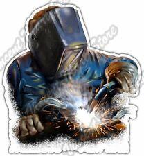 "Welder Welding Rod Mask Torch Glove Worker Car Bumper Vinyl Sticker Decal 4.6"""