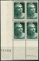 France 1945 Bloc de 4  YT n° 730 Neuf ★★ luxe / MNH BDF