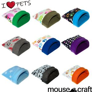 ***60 DESIGNS***SOFT POLAR FLEECE BED,SNUGGLE POUCH,COSY,GUINEA PIG ,SMALL PETS