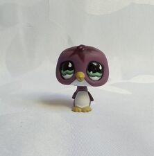 LITTLEST PETSHOP #676 HASBRO PINGOUIN VIOLET BLANC YEUX VERT PUPILLE LUNE AIMANT