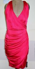 Debut Hot Pink Dress Halterneck Size 8 Cocktail Party Wrap Drape Cerise Cruise