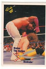 "1990 WWF Classic Games ""Brutus The Barber Beefcake"" Trading Card (Mint) {4074}"