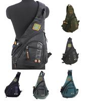 Men's Women's Sling Messenger Chest Bag Shoulder Backpack Travel Oxford student