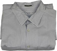 PAUL SMITH GRAY STRIPE COTTON SHIRT-LARGE-MADE ITALY