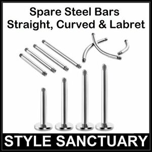 Spare Bars Replacement Barbells Labret Lip Stud Belly Nipple Eyebrow Tongue Post