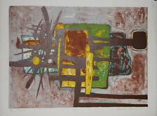 GERARD Emile- Lithographie originale signée- Composition