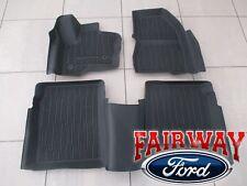 10 thru 18 Flex OEM Ford Tray Style Molded Black Rubber Tray Floor Mat Set 4-pc