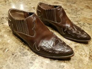 Seychelles Cowboy Booties Womens size 8.5 Leather Boots Made in Mexico