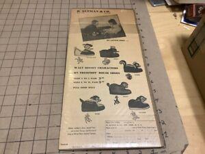 original 1949 B Altman's WALT DISNEY CHARACTER trimfoot House Shoes DONALD DUCK