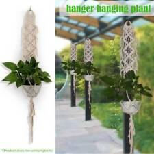 Pot Holder Macrame Plant Hanger Hanging Planter Basket Jute Rope Braided Craft a