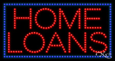 """NEW """"HOME LOANS"""" 32x17 BORDER SOLID/ANIMATED LED SIGN w/CUSTOM OPTIONS 21727"""