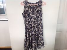 TEMT Floral skater dress size 8 daisies blue yellow black white GORGEOUS