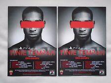 "TINIE TEMPAH + Big Sean ""Demonstration"" 2013 UK Arena Tour Promo tour flyers x 2"