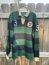 Crocker Traditional Collection Green Blue Mens Traditional Rugby Jersey size 3XL