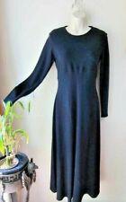 Vintage Ann Taylor Made in USA Long Sleeve Merino Wool Maxi Dress Back Zip Sz 10