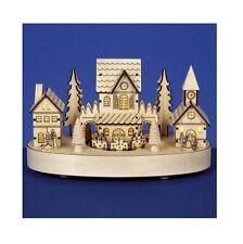 Décoration De Noël - Premier 27cm Musical Rotatif En Bois Maisons Scène Village
