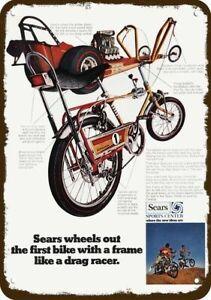 1969 SEARS SCREAMER DRAG RACE BICYCLE Vintage Look DECORATIVE REPLICA METAL SIGN