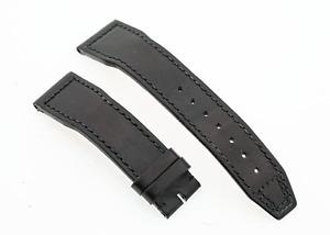 Genuine IWC Pilots Santoni Black Calf Leather 20mm Lug Watch Strap