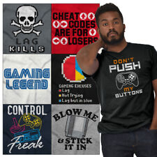 Gamer Tees Graphic T Shirts Nerd For Men Women Funny Video Gaming Gifts Tshirts