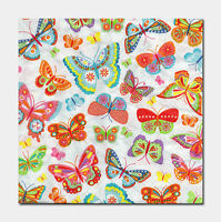 5 Servietten Schmetterlinge Butterfly viele pastell Serviettentechnik 1//4 grün