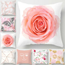 18'' Nordic Pink Pillow Cases Polyester Throw Cushion Cover Sofa Home Decor
