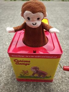 Schylling Classic Curious George Musical Jack in the Box Toy POP GOES THE WEASEL