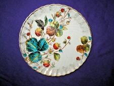 antique plate LUDWIG WESSEL BONN  Germany STRAWBERRIES LEAVES + gold late 1800s