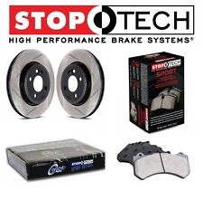 StopTech Front Slotted Brake Rotors & Sport Pads KIT For Infiniti G37 Nissan