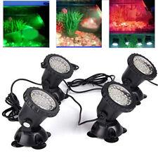 Garden Aquarium Fish Tank Pool Pond 36 LED SpotLight Underwater Lights & Remote
