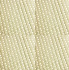 1000 SELF ADHESIVE MINI ROUND IVORY PEARLS STICK ON EMBELLISHMENT 3MM FLAT BACK