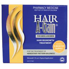Hair A-Gain Regrow Treatment Topical Application 5 Months 5 x 60ml Supply