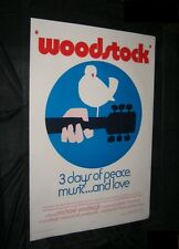 """Original Woodstock """"Wilding"""" Movie Poster Rare Style C Rolled 27X41 Linenbacked"""