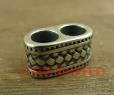 Double hole 316L stainless steel Lanyard Bead Paracord beads for craft use LB214