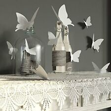 YINGKAI Mariposa in Gossip Girl 12pcs/pack White PVC 3D Decorative Butterflies R