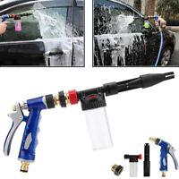 High Pressure Car Wash Water Soap Spray Nozzle Gun Garden Adjustable Hose Clean