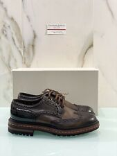 Stringata In Pelle Santoni Uomo Marrone 42.5 Luxury Santoni Men Shoe